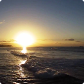 Ocean Waves Sunset Live HD 3