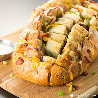 Bacon, Cheese and Ranch Pull Apart Bread