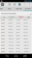 Screenshot of FinanceSim: financial planner