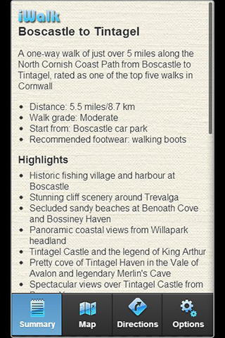 iWalk Boscastle to Tintagel