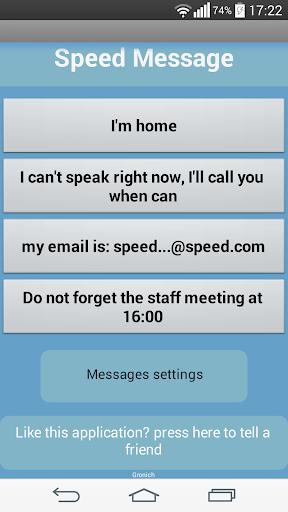 Speed Message