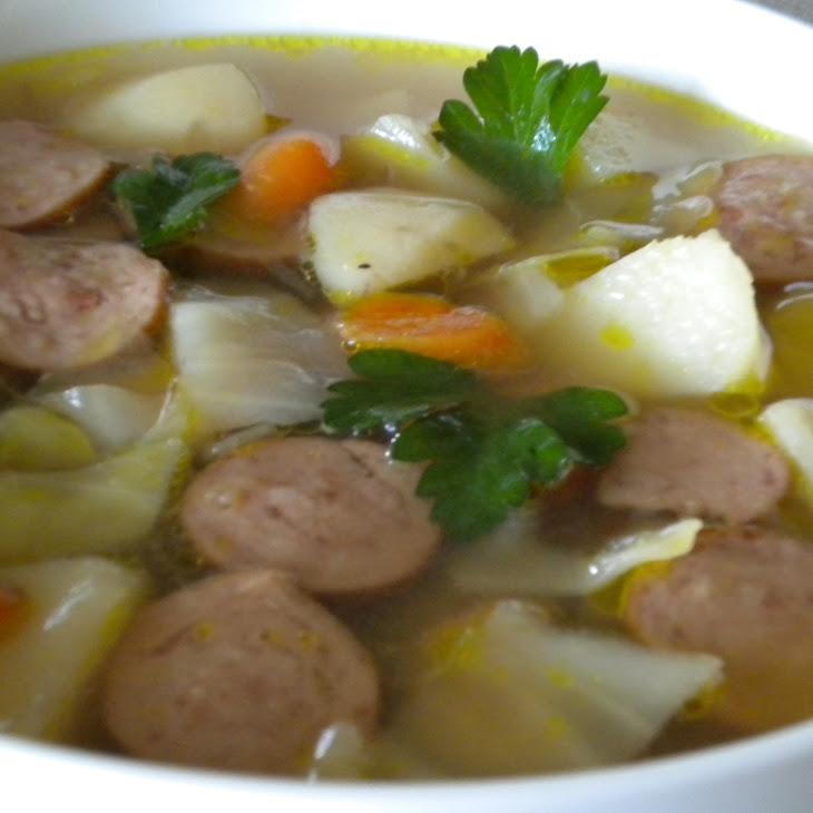 Cabbage and Kielbasa Soup