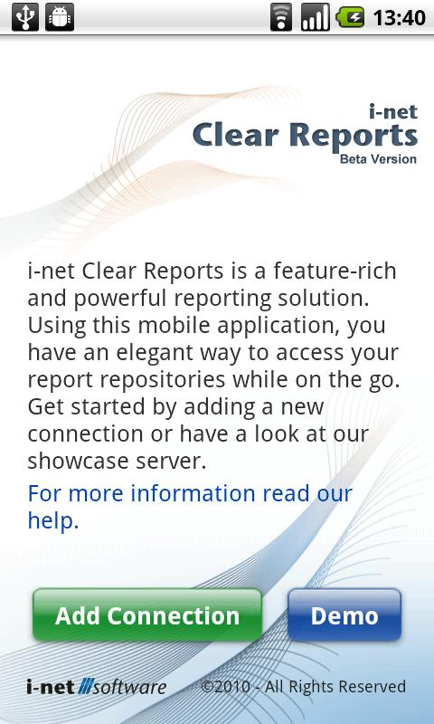 Clear Reports - screenshot