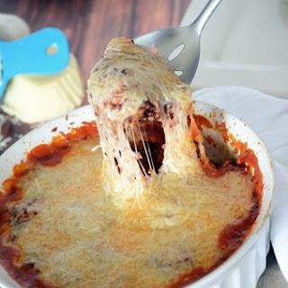 Mozzarella Meatball Quinoa Bake.