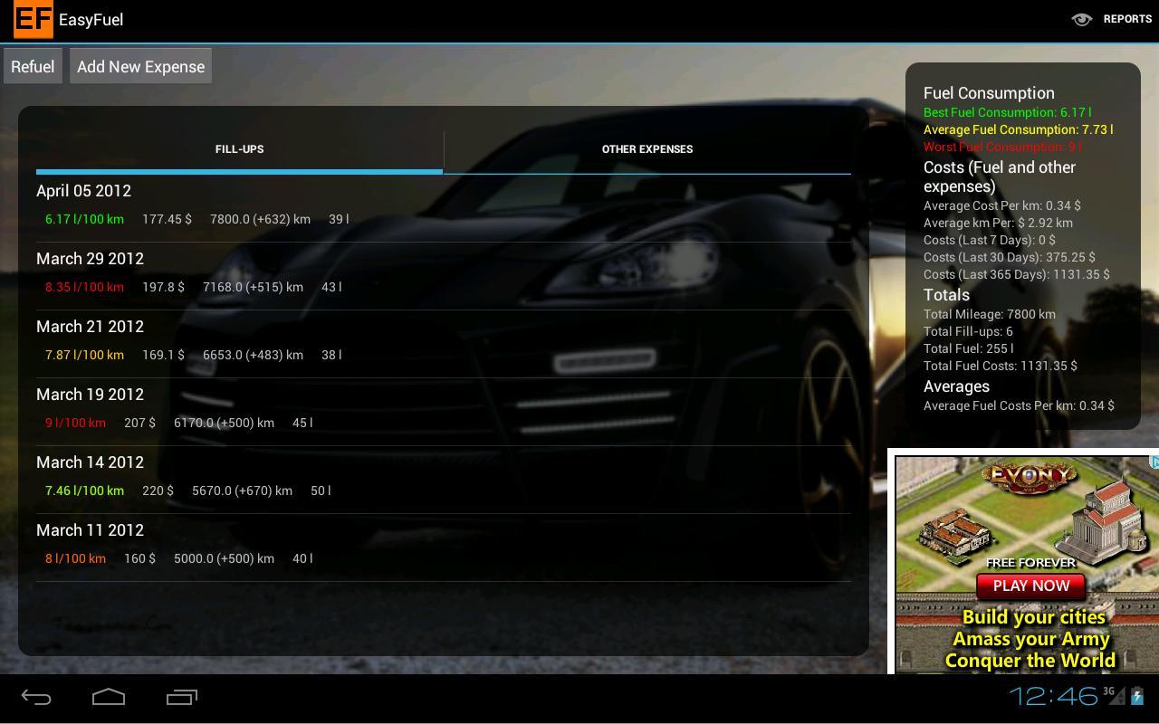 EasyFuel - screenshot