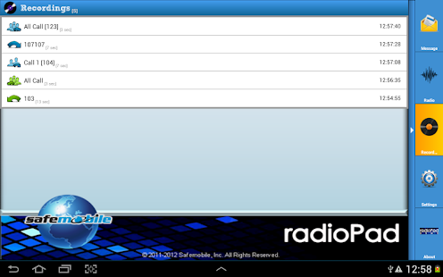 radioPad Demo- screenshot thumbnail