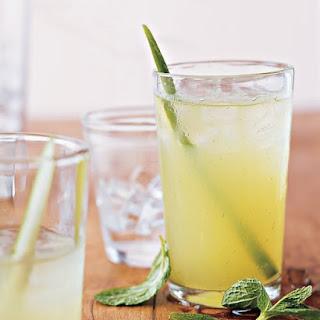 Mint, Cucumber, and Vodka Cocktails.