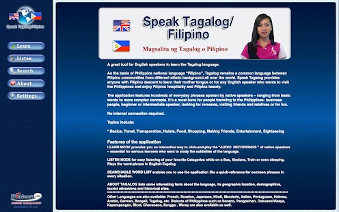 Speak Tagalog/Filipino- screenshot thumbnail