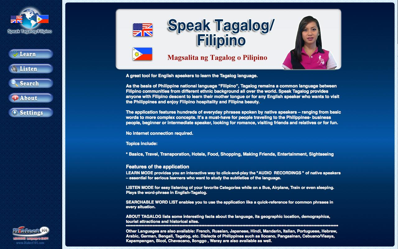 Speak Tagalog/Filipino- screenshot