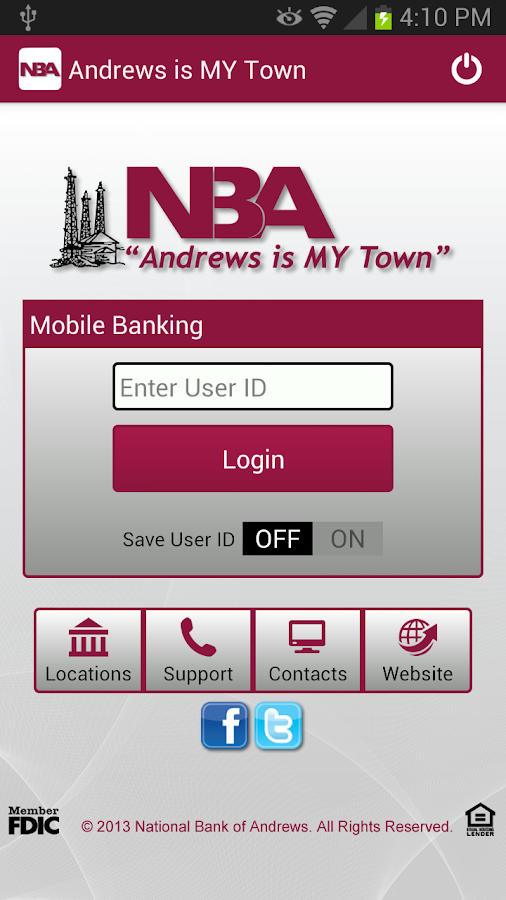 National Bank of Andrews - screenshot