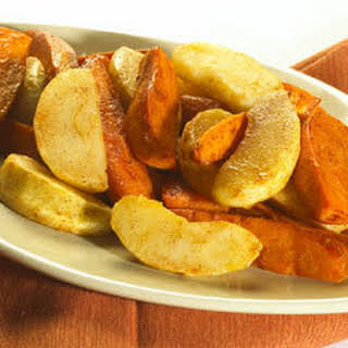 Cinnamon Roasted Sweet Potatoes & Apples.