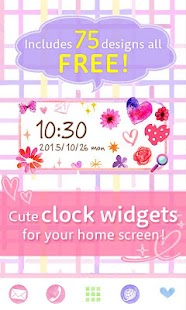 Cute Clock Widget 2 【FREE】- screenshot thumbnail