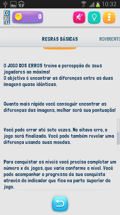 Coquetel 7 Erros- screenshot