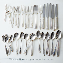 Vintage Silver-Plated Domestic Flatware (Set of 4)