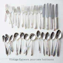 Vintage Silver-Plated Eclectic Flatware (Set of 4)