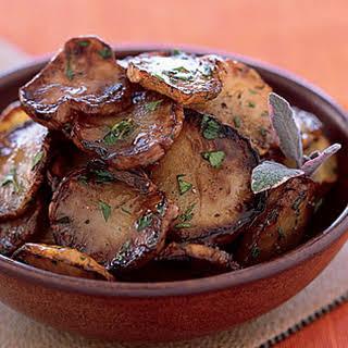 Pan-Fried Jerusalem Artichokes in Sage Butter.