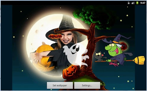Halloween Kids Photo Live Wallpaper - náhled