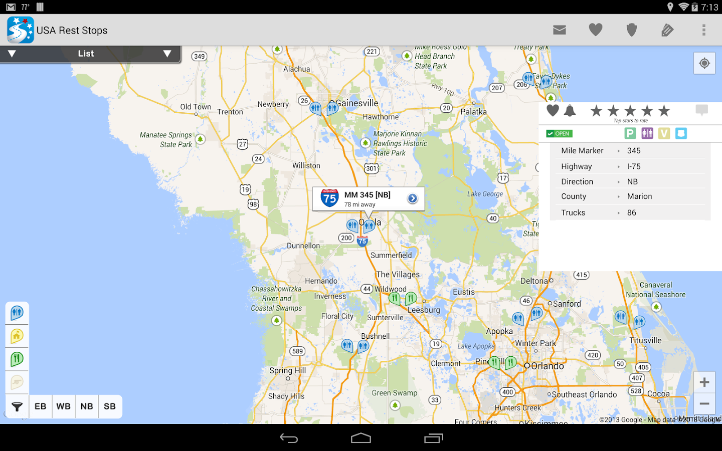 Locator Tw 6 : Usa rest stop locator android apps on google play