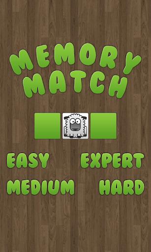 Memory Match Animals