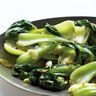 Baby Bok Choy with Chile and Garlic.