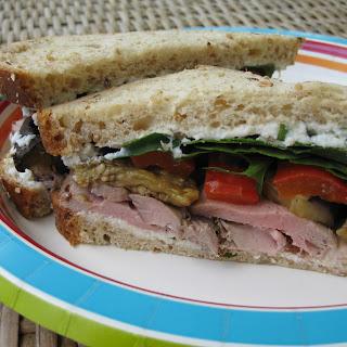 Grilled Pork And Veggies Sammich