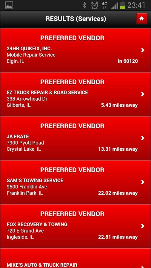 Find Truck Service Trucker App - screenshot