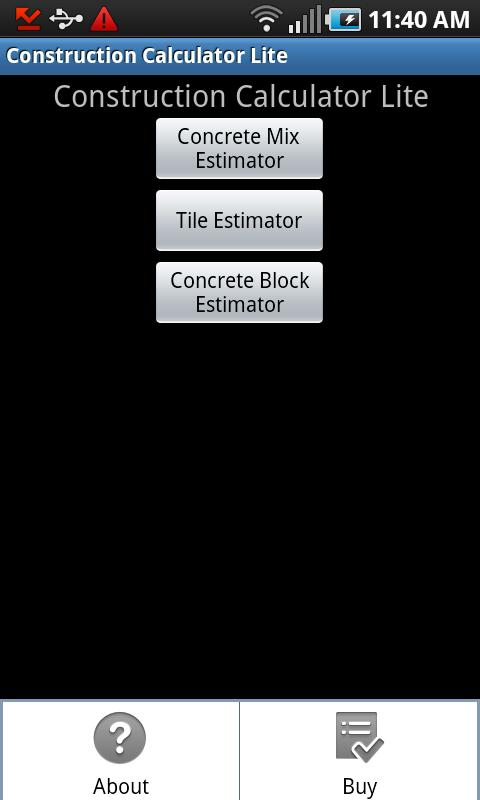 Construction Calculator Lite - στιγμιότυπο οθόνης