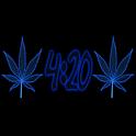 Pot Leaf 420 Blue Keyboard icon