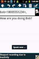 Screenshot of Hands free speech SMS/text Pro