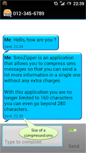 SmsZipper Send more Pay less - screenshot thumbnail