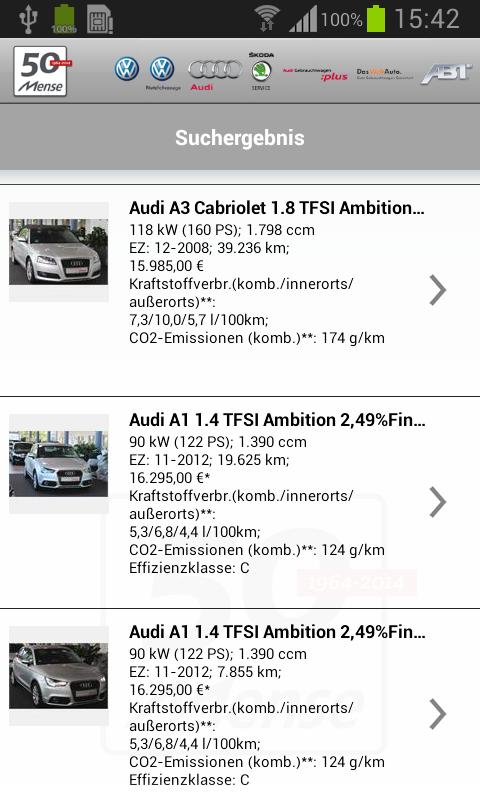 Autohaus Mense - screenshot