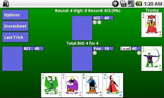 Screenshot of WIZARD Card Game (Trial)