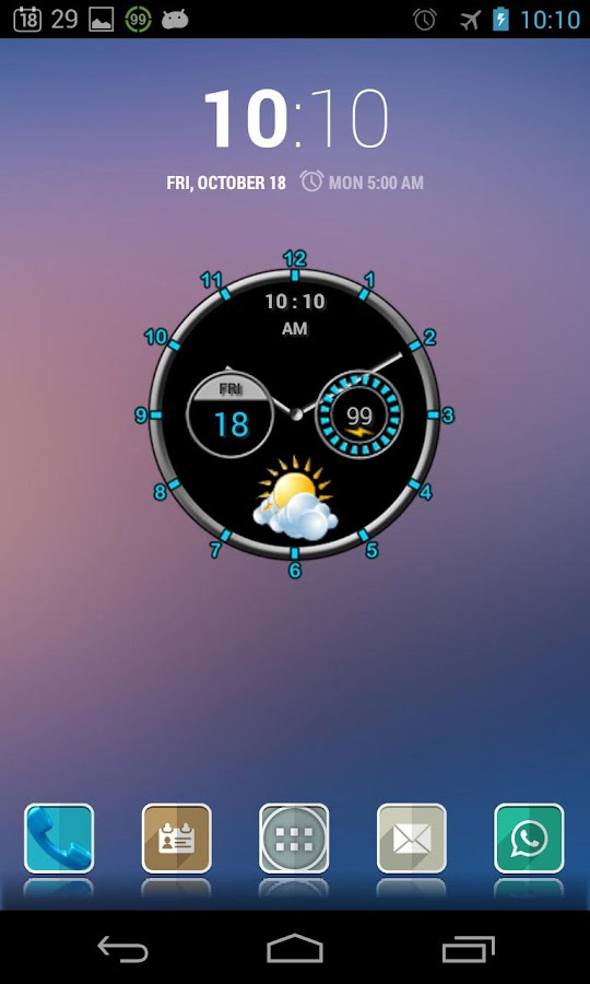 Super Clock Widget - screenshot