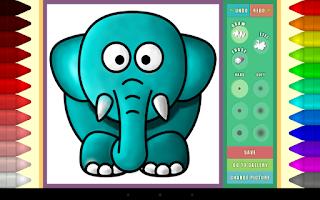 Screenshot of Didi's Coloring Book