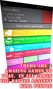 WordWarX Anagram Word Game Pay- screenshot thumbnail