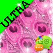 Ultra Cute Pink Peacock Theme