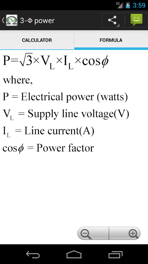 Electrical Calc & Formulas- screenshot