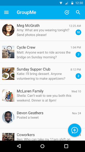 Screenshot 6 for GroupMe's Android app'