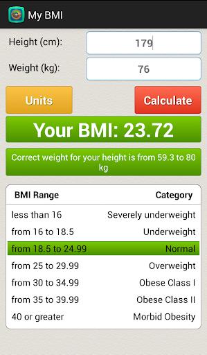 玩免費健康APP|下載身体质量指数BMI计算器 app不用錢|硬是要APP