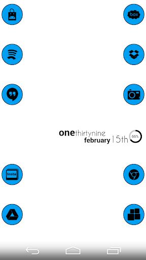 VM5 Blue Icon Set