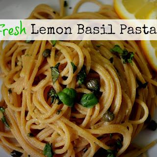Meatless Monday - Fresh Lemon Basil Pasta