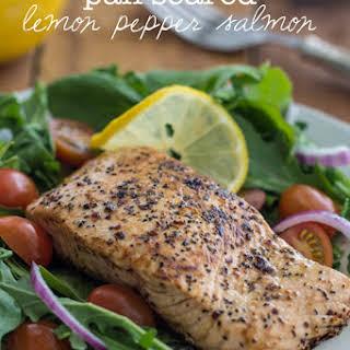 Pan Seared Lemon Pepper Salmon.