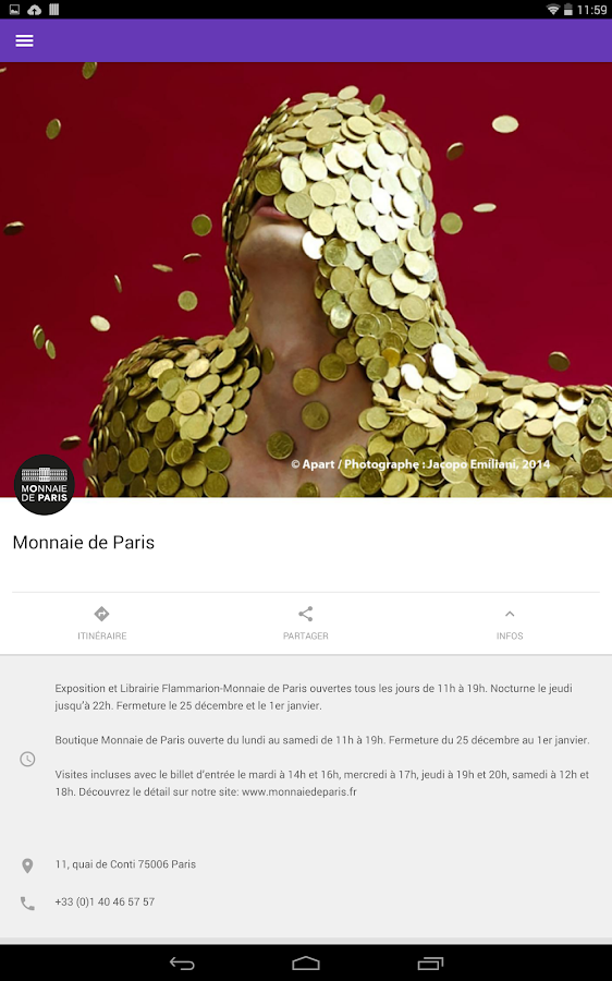 Monnaie de Paris- screenshot
