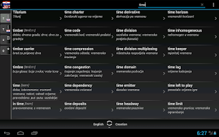 Screenshot of Dictionary Croatian English
