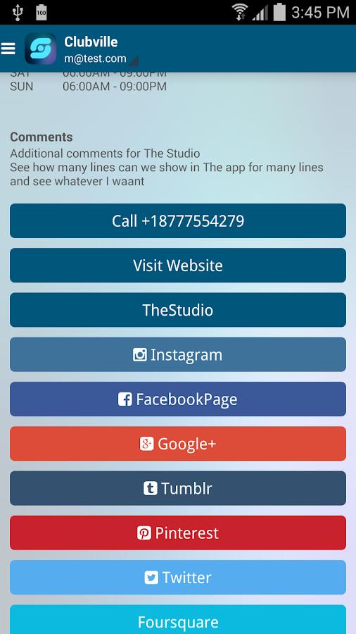 The Studio Fitness Centers - screenshot