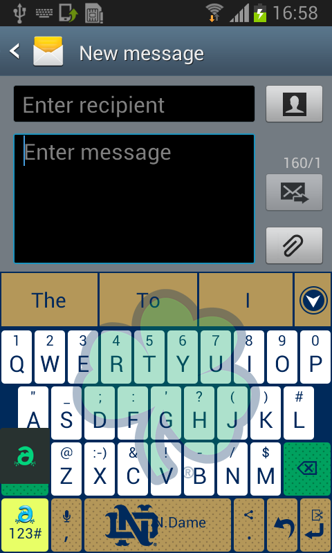 Notre Dame Keyboard - screenshot