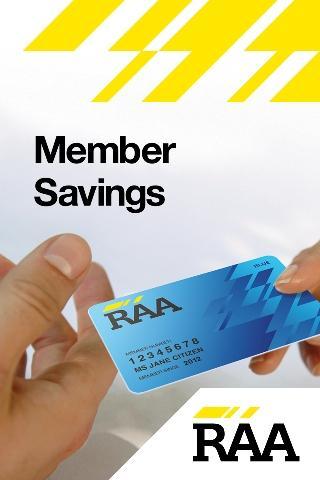 RAA Member Savings - screenshot