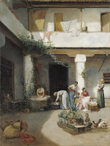 Washing in the Courtyard