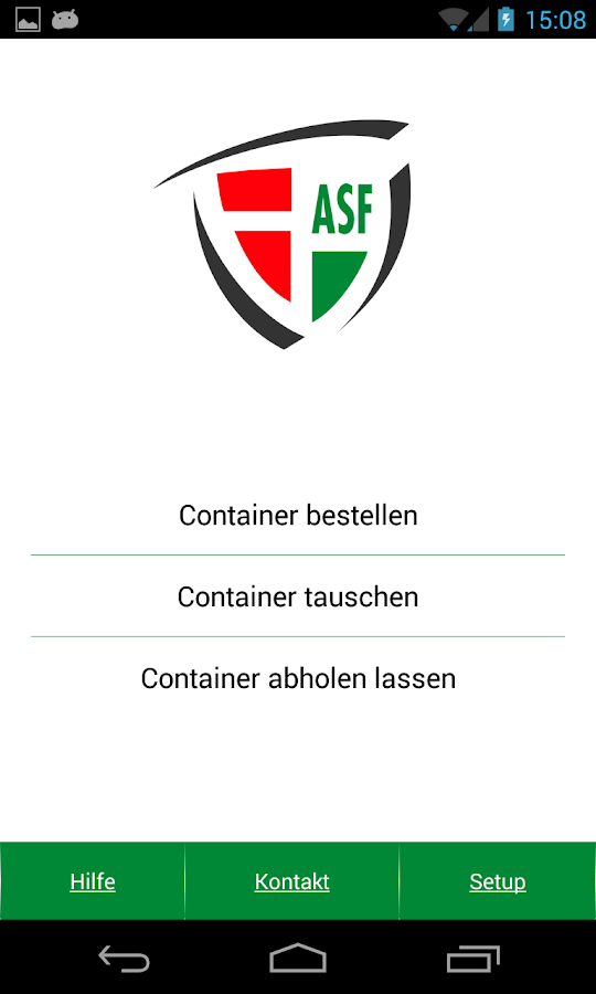 ASF Container App- screenshot
