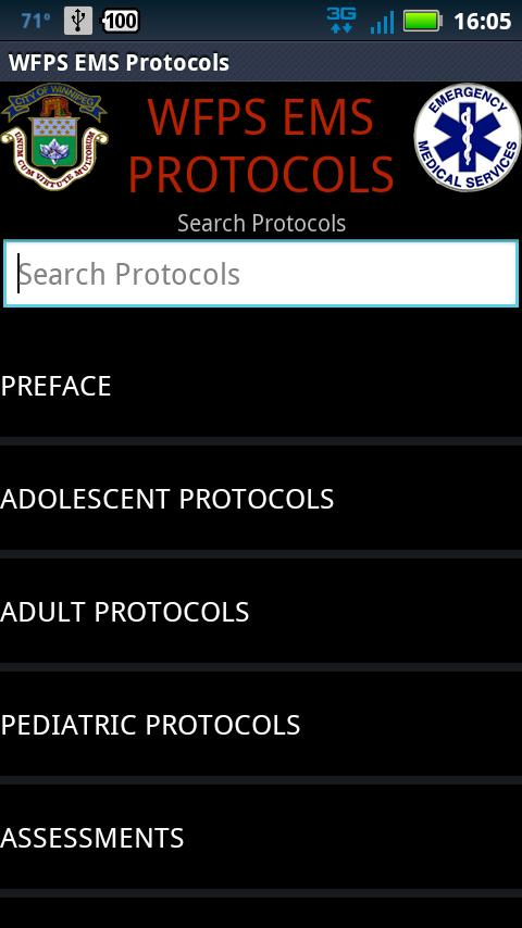 DEMO - WFPS Protocols - screenshot